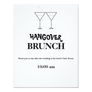 """""""Invitaciones del brunch de la resaca"""" Invitación 10,8 X 13,9 Cm"""