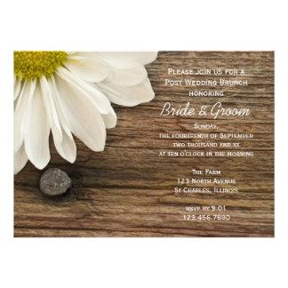 Invitaciones del brunch del boda del poste de la m anuncios