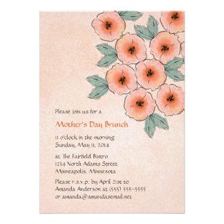 Invitaciones del brunch del día de madre del ramo comunicado