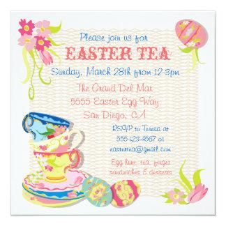 Invitaciones del brunch del té de Pascua del Invitación 13,3 Cm X 13,3cm