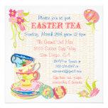 Invitaciones del brunch del té de Pascua del Victo Invitacion Personal