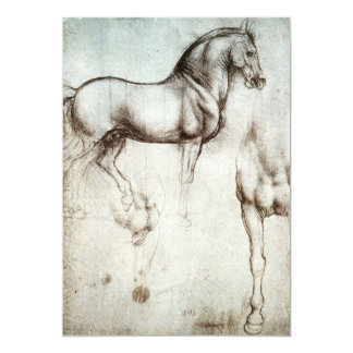 Invitaciones del caballo de da Vinci Invitación 12,7 X 17,8 Cm