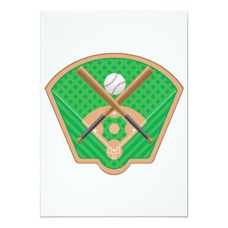 """Invitaciones del campo de béisbol invitación 5"""" x 7"""""""