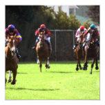 Invitaciones del campo de la carrera de caballos comunicados personales