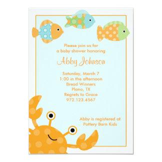 Invitaciones del cangrejo y de los pescados invitaciones personales