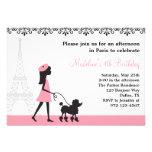 Invitaciones del caniche de París
