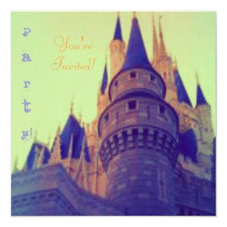 """Invitaciones del castillo invitación 5.25"""" x 5.25"""""""