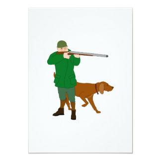 """Invitaciones del cazador y de un perro invitación 5"""" x 7"""""""