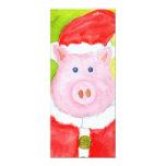 Invitaciones del cerdo de Santa Invitacion Personal