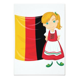 Invitaciones del chica de Oktoberfest Invitación 12,7 X 17,8 Cm
