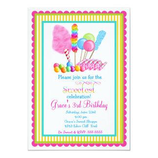 Invitaciones del circo del caramelo comunicados