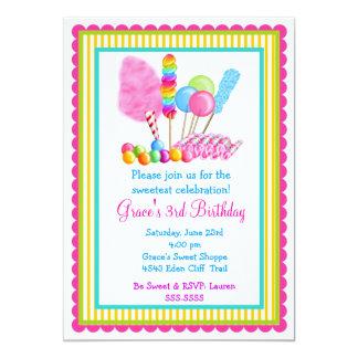 Invitaciones del circo del caramelo invitacion personal