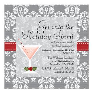 Invitaciones del cóctel del día de fiesta del navi invitación