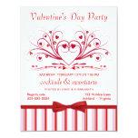 Invitaciones del cóctel del el día de San Valentín Invitación 10,8 X 13,9 Cm