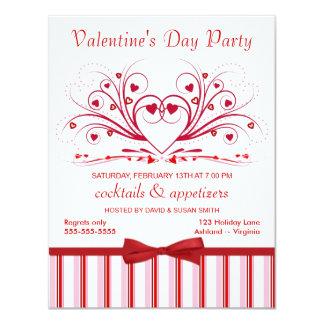 Invitaciones del cóctel del el día de San Valentín Anuncio Personalizado