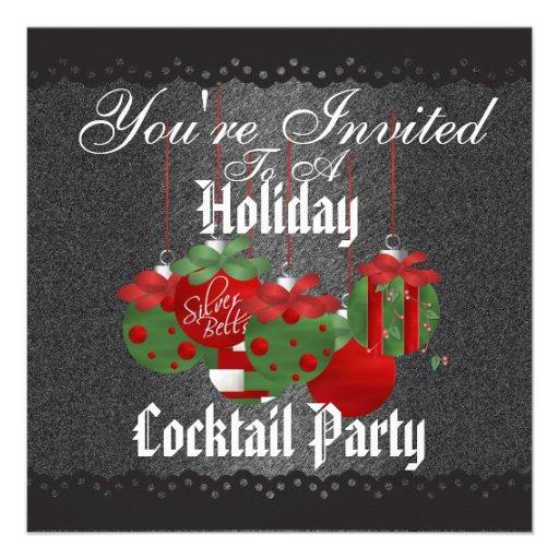 Invitaciones del cóctel del navidad anuncio