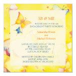 Invitaciones del compromiso: Mariposas coloridas Anuncio Personalizado