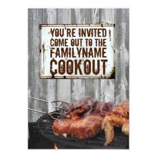 """Invitaciones del Cookout Invitación 5"""" X 7"""""""