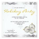 Invitaciones del copo de nieve de la celebración comunicados