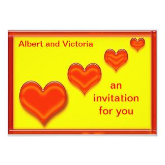 Invitaciones del corazón del amor invitacion personalizada