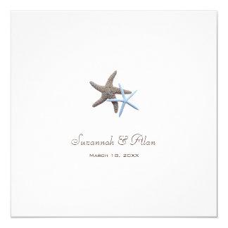 Invitaciones del cuadrado del boda de playa de los invitación 13,3 cm x 13,3cm