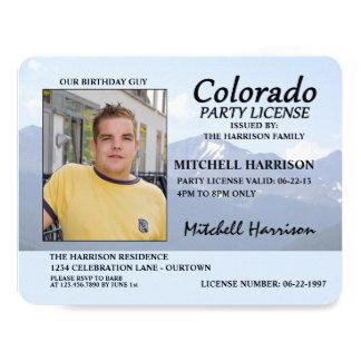 """Invitaciones del cumpleaños de Colorado de la Invitación 4.25"""" X 5.5"""""""