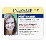 """Invitaciones del cumpleaños de Delaware de la Invitación 4.25"""" X 5.5"""""""
