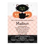 Invitaciones del cumpleaños de Halloween del gato