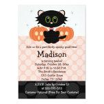 Invitaciones del cumpleaños de Halloween del gato Anuncios