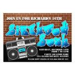 Invitaciones del cumpleaños de Hip Hop de la escue Invitaciones Personalizada