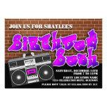 Invitaciones del cumpleaños de Hip Hop de la escue Anuncio Personalizado