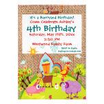 Invitaciones del cumpleaños de la arpillera de los