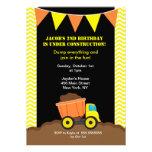 Invitaciones del cumpleaños de la construcción del comunicados personales