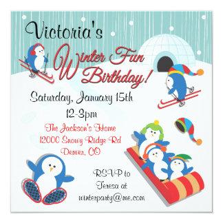 """Invitaciones del cumpleaños de la diversión del invitación 5.25"""" x 5.25"""""""
