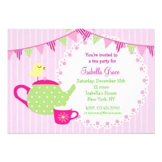 Invitaciones del cumpleaños de la fiesta del té invitaciones personales