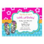 Invitaciones del cumpleaños de la fiesta en la pis invitación