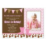 Invitaciones del cumpleaños de la foto de la invitacion personalizada