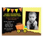 Invitaciones del cumpleaños de la foto de la const comunicados personales