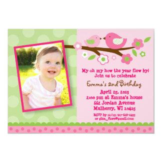 """Invitaciones del cumpleaños de la foto de la flor invitación 5"""" x 7"""""""