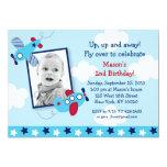 Invitaciones del cumpleaños de la foto del invitación
