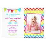 Invitaciones del cumpleaños de la foto del arco comunicado personalizado