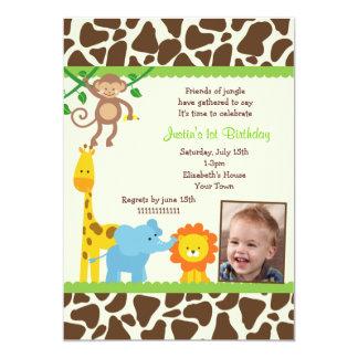 Invitaciones del cumpleaños de la foto del safari invitación 12,7 x 17,8 cm