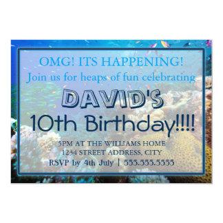 """Invitaciones del cumpleaños de la gran barrera de invitación 5"""" x 7"""""""