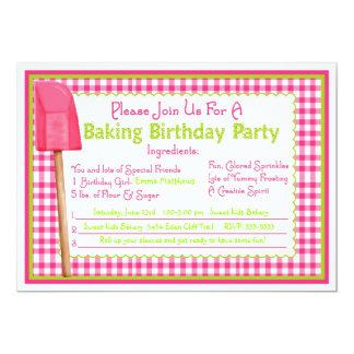 Invitaciones del cumpleaños de la hornada de la invitación 12,7 x 17,8 cm