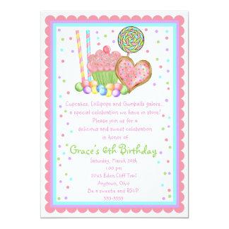 Invitaciones del cumpleaños de la magdalena y del invitaciones personales