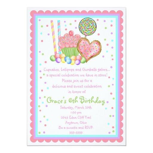 Invitaciones del cumpleaños de la magdalena y del invitación 12,7 x 17,8 cm