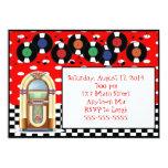 invitaciones del cumpleaños de la máquina invitación 12,7 x 17,8 cm