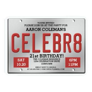 """Invitaciones del cumpleaños de la placa invitación 5"""" x 7"""""""