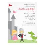 Invitaciones del cumpleaños de la princesa y del c