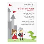 Invitaciones del cumpleaños de la princesa y del c comunicados personales